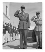 Charles De Gaulle In Carthage Tunisia 1943 Fleece Blanket