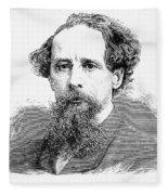 Charles Dickens, English Author Fleece Blanket