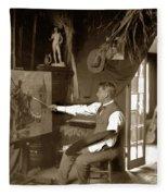 Charles Dickman Artist Monterey California Circa 1907 Fleece Blanket