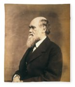 Charles Robert Darwin (1809-1882) Fleece Blanket