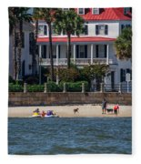 Charleston Beach Fleece Blanket