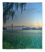 Charleston Bridge View Fleece Blanket