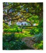 Charleston Sc Gardens Fleece Blanket