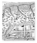 Charleston: Plan, 1704 Fleece Blanket