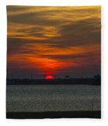 Charleston Sc Sunset Fleece Blanket