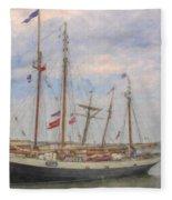 Charleston Ships Fleece Blanket