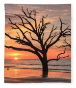 Charleston South Carolina Edisto Island Beach Sunrise Fleece Blanket