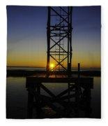 Charleston Water Sunset Fleece Blanket