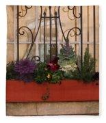 Charleston Window Garden Fleece Blanket