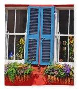 Charleston Windows Fleece Blanket