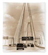 Charleston's Arthur Ravenel Jr. Bridge Fleece Blanket