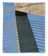 Charleston's Cable Bridge Geometric Abstract Fleece Blanket