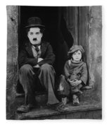 Charlie Chaplin 1921 Fleece Blanket