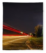 Charlotte City Airport Entrance Sculpture Fleece Blanket