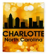 Charlotte Nc 3 Fleece Blanket