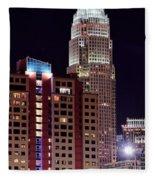Charlotte Skyscraper Fleece Blanket