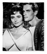 Charlton Heston And Marina Berti Fleece Blanket