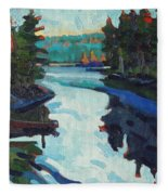 Charlton Lake Camp Sunrise Fleece Blanket