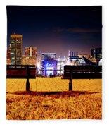 Charm City View Fleece Blanket