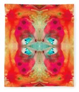 Charmed - Abstract Art By Sharon Cummings Fleece Blanket