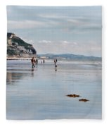 Charmouth Beach 2 Fleece Blanket