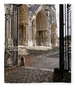 Chartres Cathedral North Transept Fleece Blanket