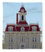 Chase County Courthouse In Kansas Fleece Blanket