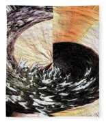 Chasing The Dragon's Tail Fleece Blanket