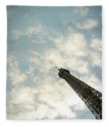 Chasing The Dream Paris Eiffel Tower Fleece Blanket
