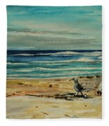 Chasing The Seagull Fleece Blanket