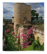 Chateau Chinon In The Loire Valley Fleece Blanket