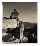 Chateau De Castelnaud With Hot Air Fleece Blanket