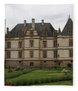 Chateau De Cormatin  And Garden - Burgundy Fleece Blanket