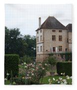 Chateau De Cormatin - Burgundy Fleece Blanket