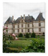 Chateau De Cormatin Garden Fleece Blanket