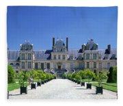 Chateau De Fontainebleau Ile De France Fleece Blanket