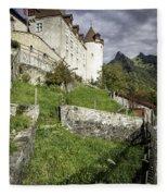 Chateau De Gruyeres Fleece Blanket