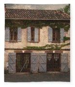 Chateau No 1 Rue Moulins France Fleece Blanket