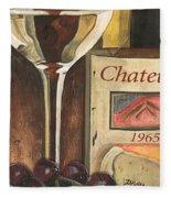 Chateux 1965 Fleece Blanket by Debbie DeWitt