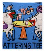 Chattering Teeth Dental Art By Anthony Falbo Fleece Blanket