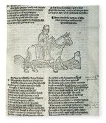 Chaucer: Prologue Fleece Blanket