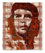 Che Guevara Digital From Watercolor Painting Fleece Blanket
