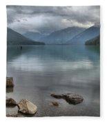 Cheakamus Lake - Squamish British Columbia Fleece Blanket