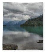 Cheakamus Lake Reflections Fleece Blanket