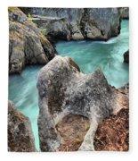 Cheakamus River Channel Fleece Blanket