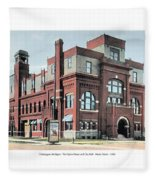 Cheboygan Michigan - Opera House And City Hall - Huron Street - 1905 Fleece Blanket