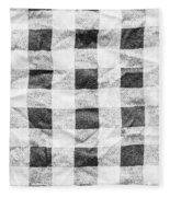 Checked Cloth Fleece Blanket