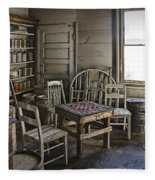 Checker Game Setting In A Back Room No. 3105 Fleece Blanket