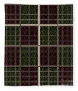 Checkerboard Cats Fleece Blanket
