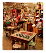 Checkers At Jefferson General Store Fleece Blanket
